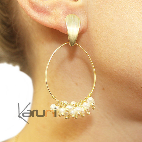 Gold Plated Sterling Silver Earrings 5098