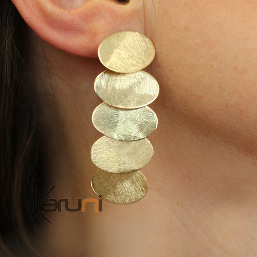 Gold Plated Sterling Silver Earrings 5103