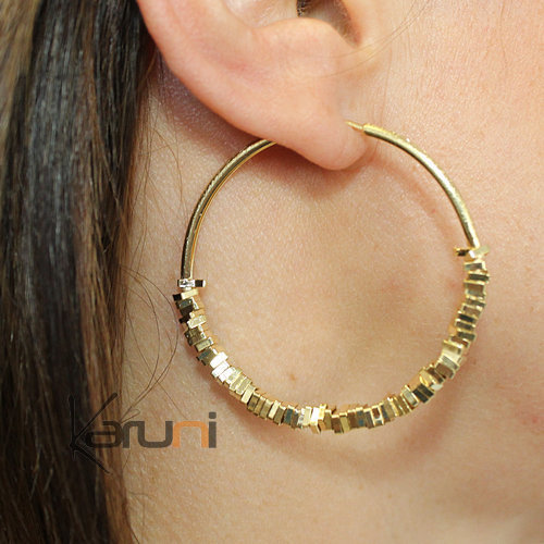 Gold Plated Sterling Silver Creoles Earrings 5104