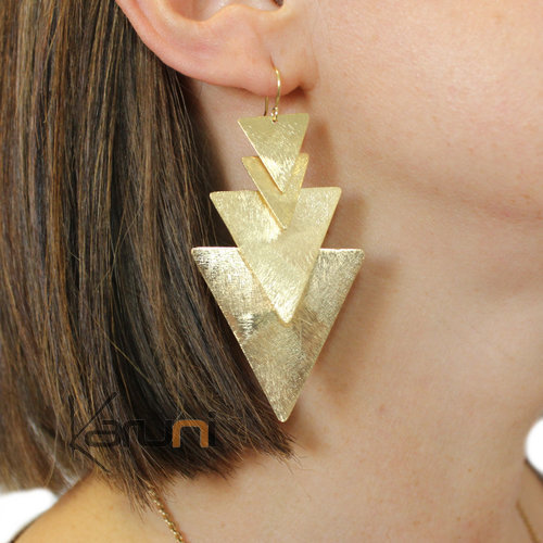 Gold Plated Sterling Silver Earrings 5105
