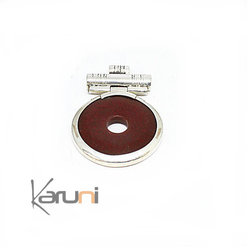 Necklace Pendant Sterling Silver Red Agate 7049