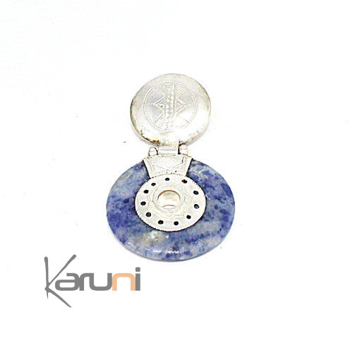Necklace Pendant Sterling Silver Blue Sodalite 7051