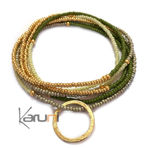 Gold Plated Beads Necklace 7054