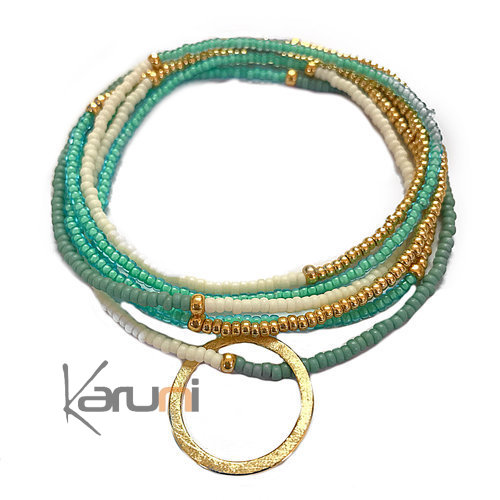 Gold Plated Beads Bracelet Necklace 7059