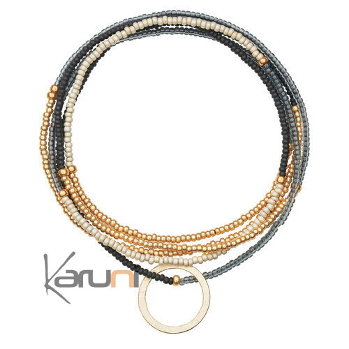 Gold Plated Beads Bracelet Necklace 7060