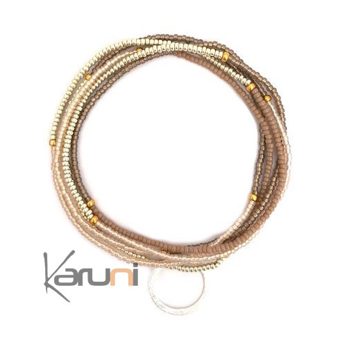 Gold Plated Beads Bracelet Necklace 7061