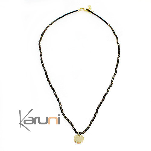 Sterling Silver Necklace Gold Plated Beads 7062