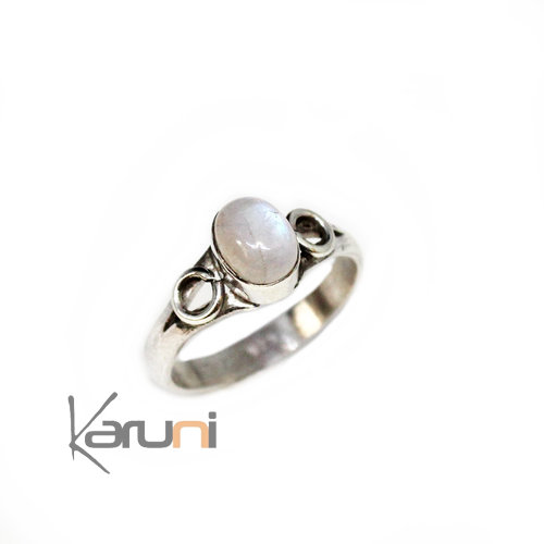 Moon Stone 925 Sterling Silver Ring 1109