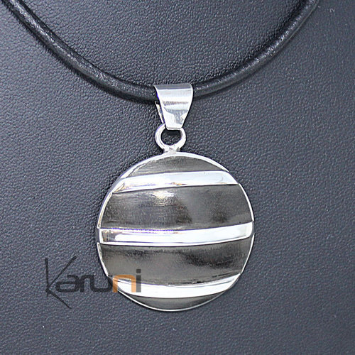 Sterling Silver Pendant Necklace Ebony 7048