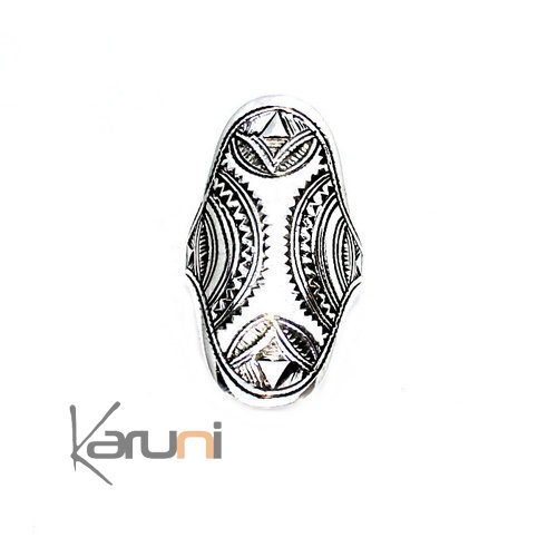 Sterling Silver Engraved Ring 1118