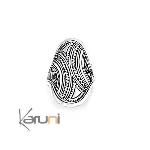 Sterling Silver Engraved Ring 1119