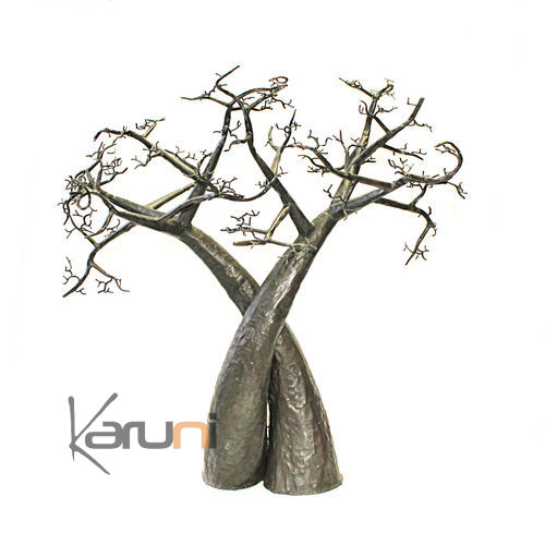 Tree Jewelry Holder Lover Cross Baobab Metal Recycled