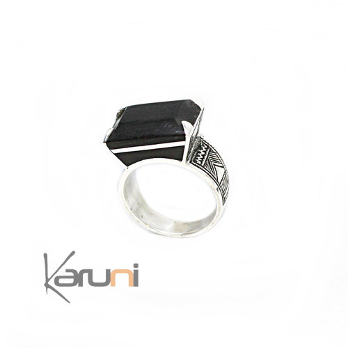Exclusive Signet Ring Sterling Silver Ebony 1124