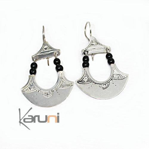 Ethnic Earrings Sterling Silver Jewelry Fan 5129
