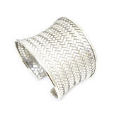 Braided 925 sterling silver cuff