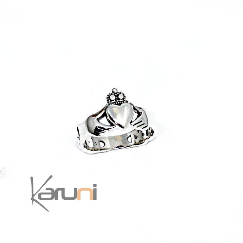 Irish Claddagh Sterling Silver Ring 1131
