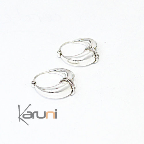 Medium Circle 925 Silver Earrings 5132