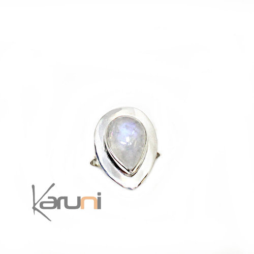 925 Sterling Silver Ring India Oval Moonstone 1133