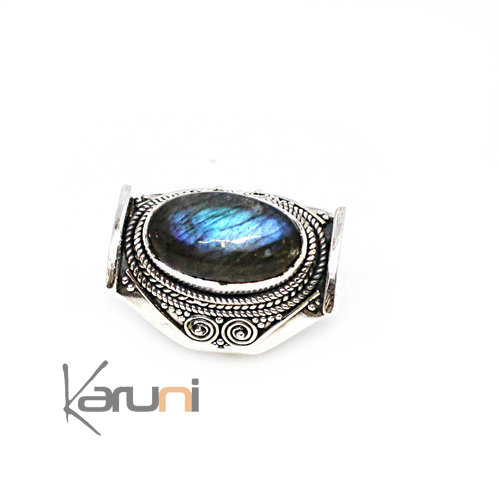 925 Sterling Silver Signet Ring Moonstone 1134