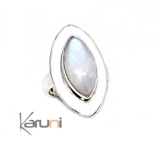 925 Sterling Silver Ring Moonstone 1135