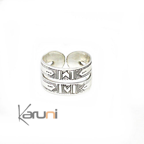Sterling Silver Adjustable Reversible Ring 1141