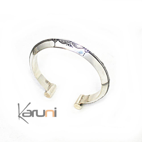Ethnic Bracelet Sterling Silver Jewelry  Engraved 3111