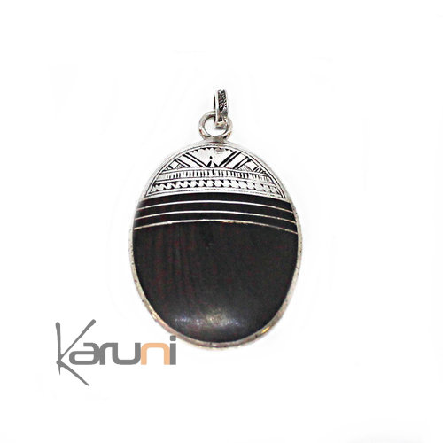 Little Ebony Sterling Silver Pendant 7059