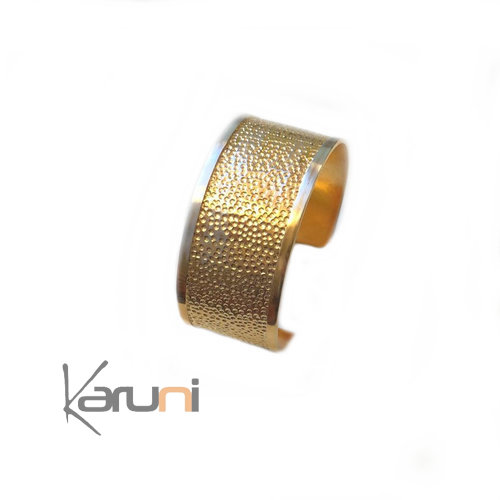 Sterling Silver Cuff Hammered Gold Tinted 3117