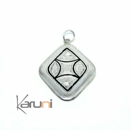 Sterling Silver Ebony Pendant Mike 7069