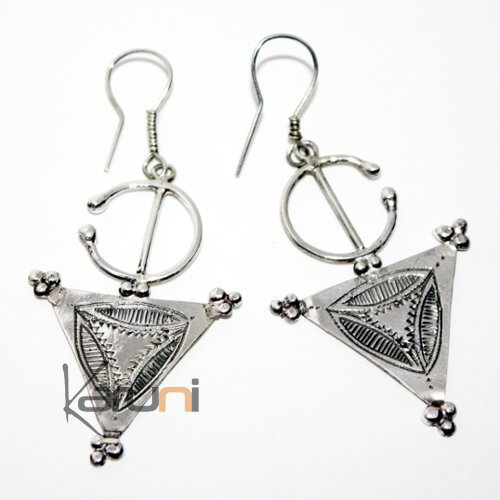 Ethnic Jewelry Touareg Earrings Silver Berber Fibula 02