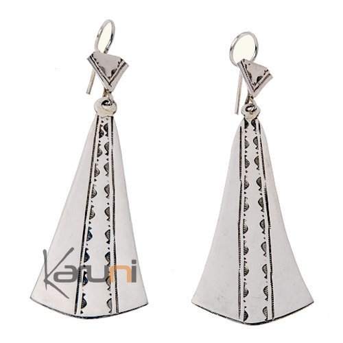 Tuareg pendants earrings in silver 2