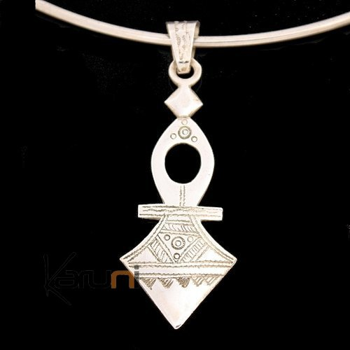 African Southern Cross Necklace Pendant Sterling Silver   from Timia Niger Tuareg Tribe Design 01